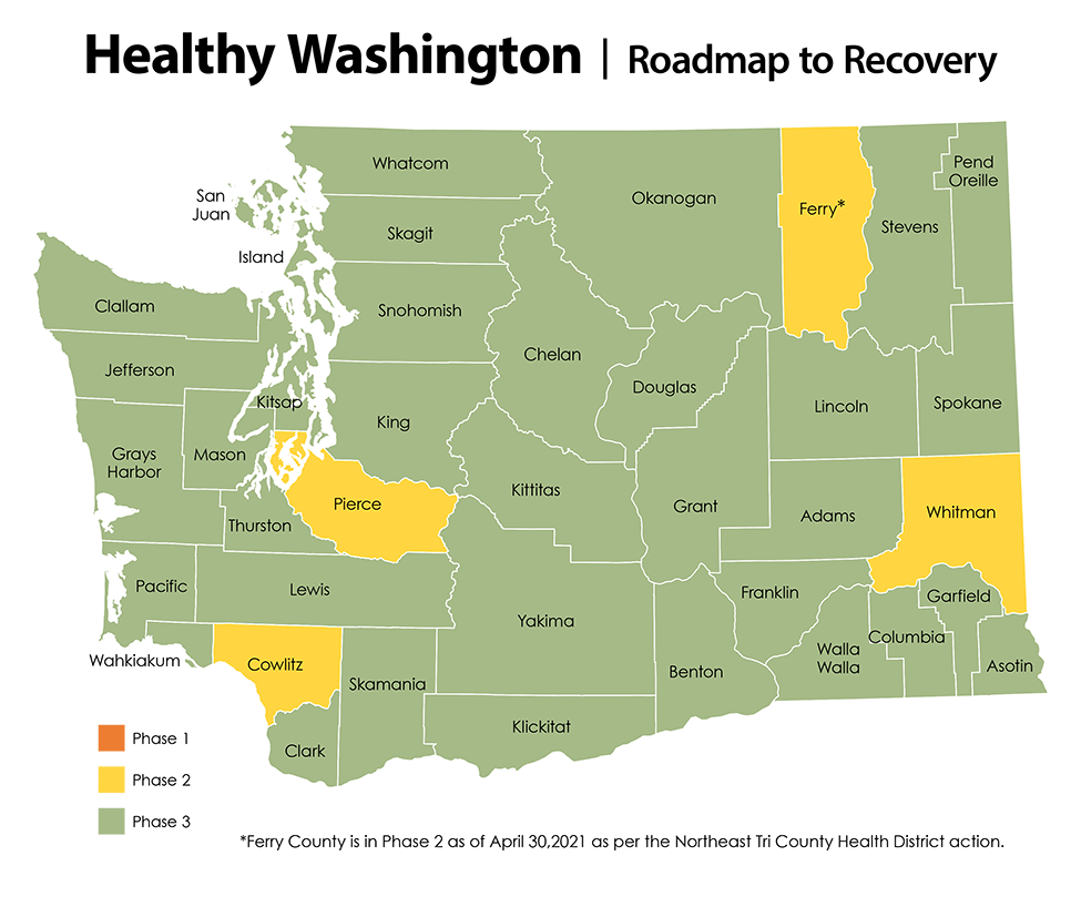 Healthy Washington Roadmap to Recovery Map