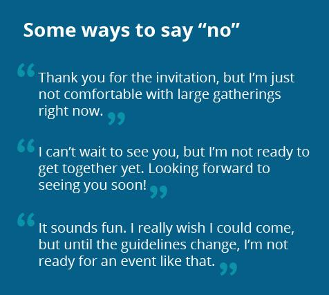 "Examples of ways to say ""no"""