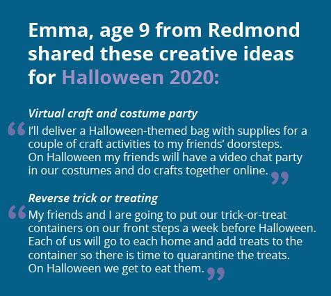 Image with creative ideas for Halloween