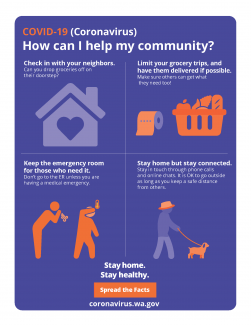How can I help my community? color flyer