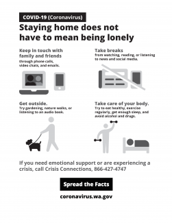 Staying home does not have to mean being lonely
