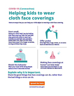 How to help kids with face coverings and masks