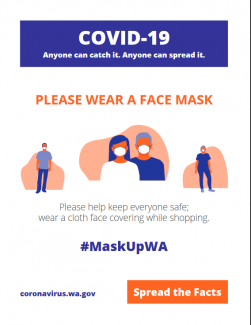 please wear a facemasl